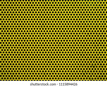 Yellow metak or steel mesh screen background seamless and texture