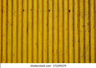 Yellow Metal Sheet texture, background