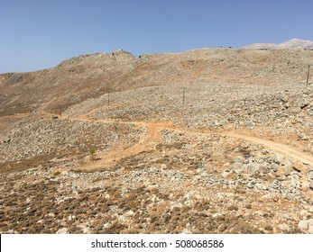 The yellow mountain in Greece