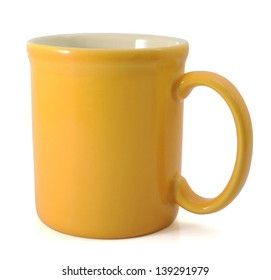 Yellow Mug With Clipping Path