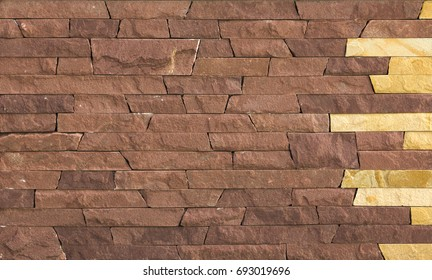 yellow natural stone facade, wall tiles texture background