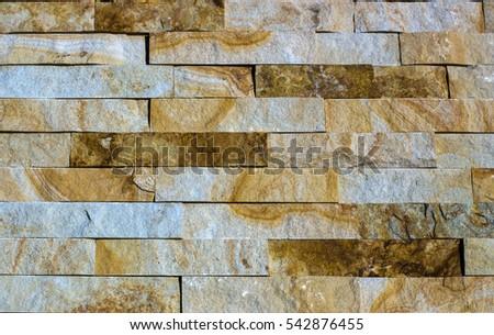 Yellow Natural Stone Facade Wall Tiles Stock Photo Edit Now