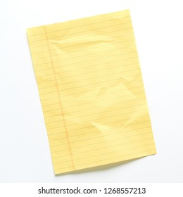 A Yellow Note On A White Background