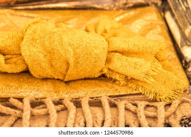 Yellow Ochre Fabric for sale in market