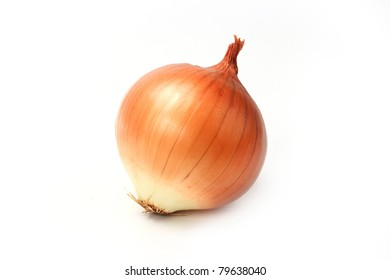 Yellow onion isolated on white background