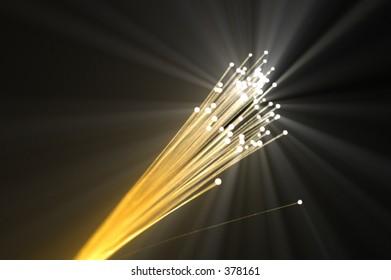Yellow optic fiber