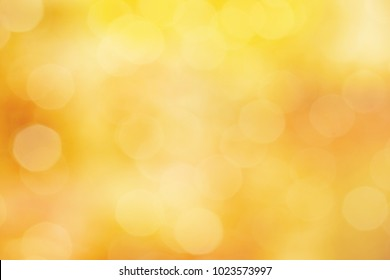 yellow orange color abstract bacground withe blurred defocus bokeh light for template