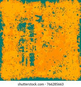Yellow orange grunge background