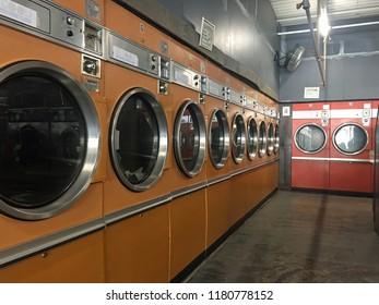 Yellow and Orange Retro Laundromat