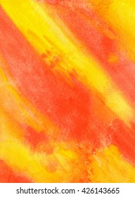 Yellow and orange watercolor texture background. Hand paint texture, watercolor textured backdrop.