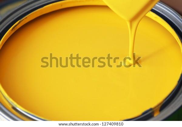Yellow Paint Stock Photo Edit Now 127409810