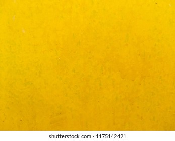 Yellow paint metal surface texture for background