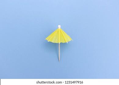 Yellow paper umbrella