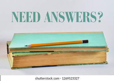 Yellow pencil over a book and text on a bright background