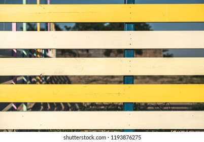 Yellow planks background. Synny day
