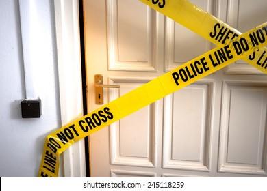 Yellow Plastic Crime Scene Do Not Cross Tape