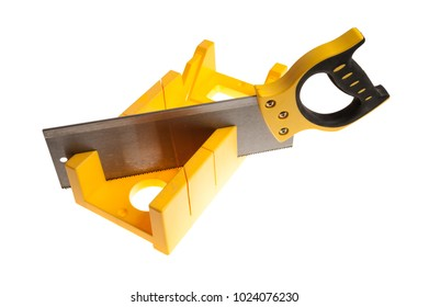 yellow plastic mitre box for smooth angles