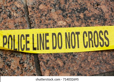 Yellow police tape