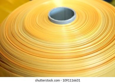 yellow polyethylene roll