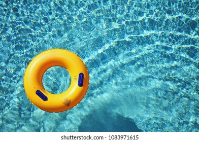 yellow pool floats / pool rings