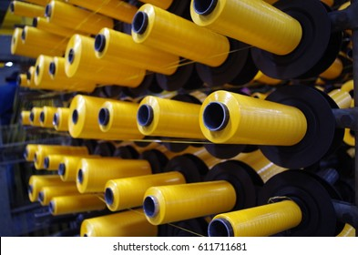 Yellow PP Woven Thread Ready for Production