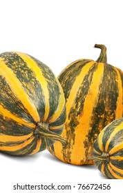 Yellow pumpkin isolated  on a white background
