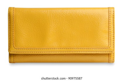 yellow purse with clipping path