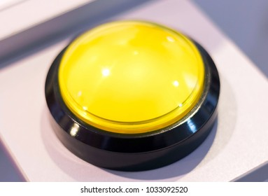 yellow push alarm button. vintage electronic