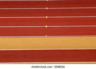 yellow and red athletics race track detail