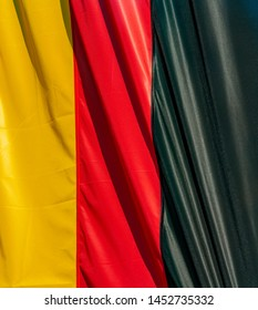 Yellow, red and black background of the german flag