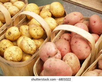 yellow and red potatoes