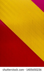 yellow and red security striped panel warning danger