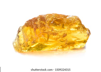 Yellow resin obtained from the rubber of the tree.