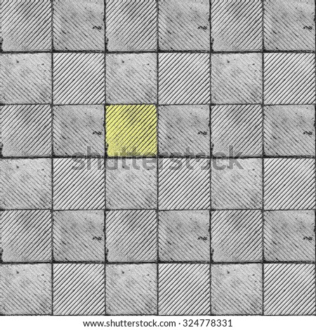 Yellow Ribbed Tile On Floor Wall Stock Photo Edit Now 324778331
