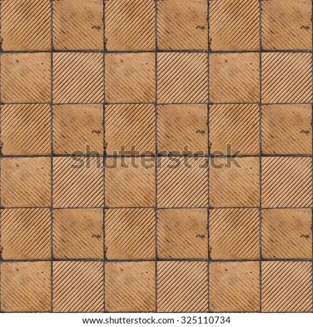Yellow Ribbed Tile On Floor Wall Stock Photo Edit Now 325110734