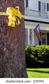 Yellow Ribbon on Tree