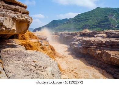 Yellow River Hukou Waterfall