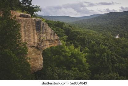Yellow Rock overlook at Devils Den State Park in Northwest Arkansas