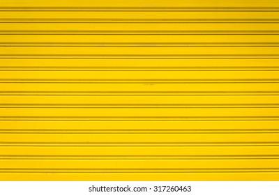 Yellow  Roller Shutter Door - Minimal style image - Shutterstock ID 317260463