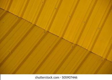 yellow roof under the sunlight
