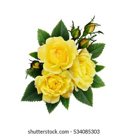 Yellow roses images stock photos vectors shutterstock yellow rose flowers arrangement isolated on white mightylinksfo