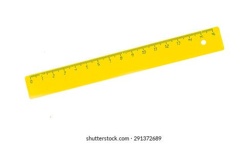 yellow rulers drawing isolated on a white background.
