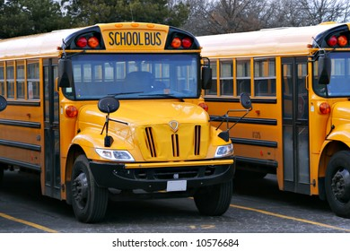 Yellow School Bus Parked