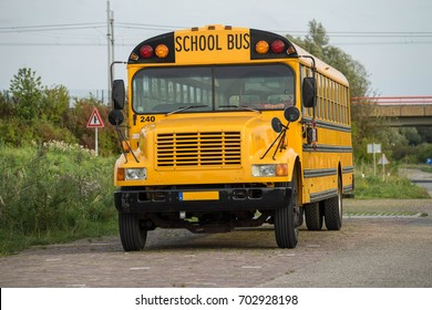 Yellow schoolbus.
