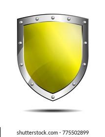 Yellow Shield, protection Antivirus Security Firewall - Raster  Version