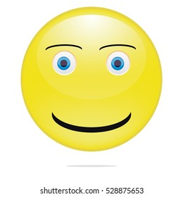 Yellow Smiling emoticon vector illustration