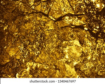 Yellow space. Gold Backgrounds. Abstract texture. Gold texture. Gold texture. Rough structure mineral. Rock texture. Gold Ore. Rock backgrounds. Stone background. Foil