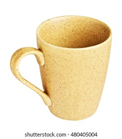 Yellow Spotted Coffee Mug
