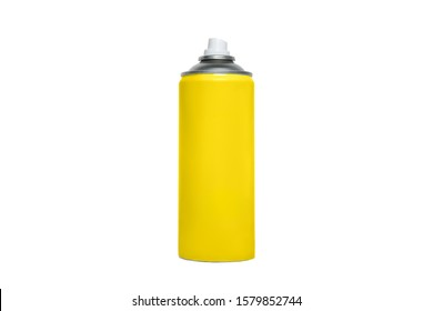 Yellow spray can without inscriptions. Isolate