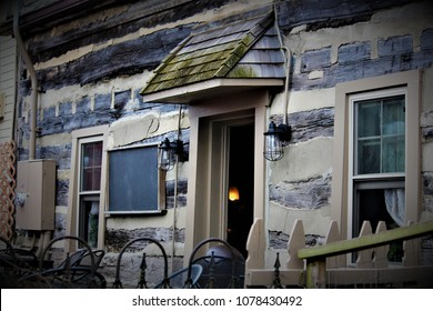 Yellow Springs, OH / United States - April 1 2018: Yellow Springs is home to Ye Olde Trail Tavern, the oldest tavern in Ohio and a local landmark